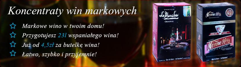 koncentraty wina