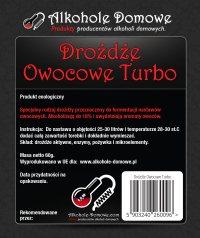 Drożdże Owocowe Turbo