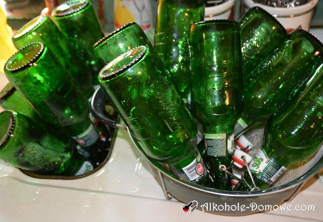 Przygotownie butelek do cydru