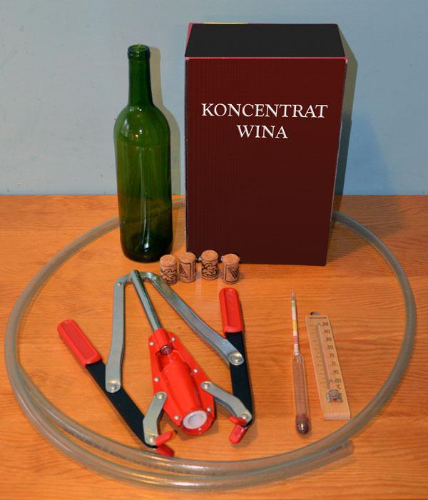 osprzęd do wina z koncentratu Rioja osprzęt