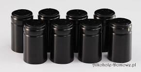 Kapturki termokurczliwe czarne 20 sztuk
