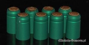 Kapturki termokurczliwe zielone 20 sztuk