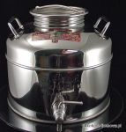 Bańka z nierdzewnej stali INOX 15 l z kranem