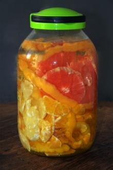 Nalewka 3 cytrusy - pomara�czowo grejpfrutowo cytrynowa