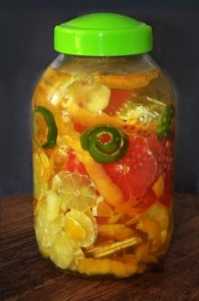 Nalewka 4 cytrusy - pomara�czowo grejpfrutowo cytrynowo limonkowa